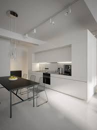 luxury minimalist loft designs in black and white image 03 white