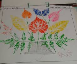 how to write an impression paper leaf impression painting 3 steps