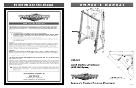 tuff stuff cxt 125 smith press system attachment user manual 5 pages