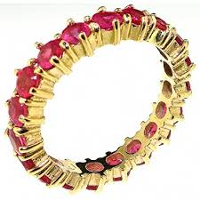 ruby eternity ring solid 9ct yellow gold ruby eternity ring co