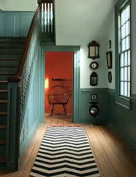 benjamin moore stairs wainscoting painted williamsburg