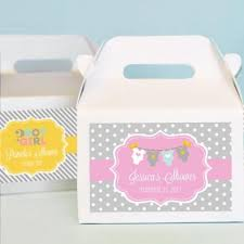 personalized favor boxes personalized baby shower mini gable favor boxes baby shower gift