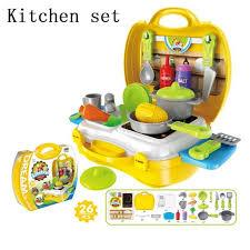 valise cuisine pretend play enfants valise cuisine ensemble de jouets en