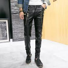 Real Leather Leggings Online Buy Wholesale Mens Black Leather Pants From China Mens