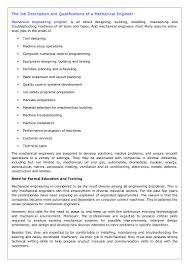 Cnc Programmer Job Description The Job Description And Qualifications Of A Mechanical Engineer