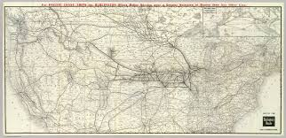 Chicago Railroad Map by Burlington Route Usa Map David Rumsey Historical Map Collection