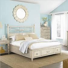 White Platform Bed Frame American Drew Americana Home Storage Platform Bed In Weathered