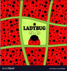 Background Invitation Card Ladybug Background Invitation Card Royalty Free Vector Image