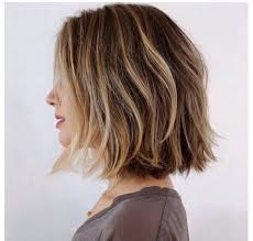 box layer haircut square one length with short round layers blowdry style mixed