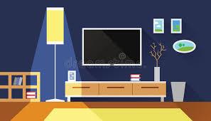 livingroom interior living room interior flat vector illustration stock vector