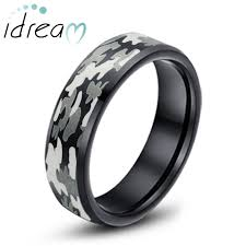 camo mens wedding bands camo laser engraved tungsten wedding band black beveled edge