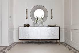 furniture white hallway with modern sideboard hutch circular