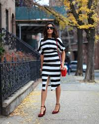 New York travel clothes images Little striped dress in nyc sazan jpg