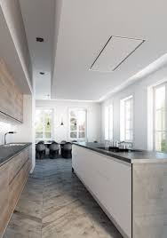 hotte cuisine plafond idée relooking cuisine hotte de plafond encastrable en acier
