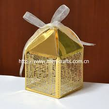 laser cut pearl paper ivory muslim wedding gift box for cake