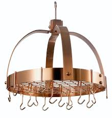 dome decor satin copper pot rack with grid