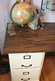 Pottery Barn Inspired Furniture Pottery Barn Inspired Desk Using Goodwill Filing Cabinets Hometalk