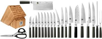 shun kitchen knives shun classic 21 mega knife block set on sale free shipping us48