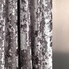 Curtains Plum Color by Silver Grey Velvet Curtain Fabric By Fibre Naturelle Panther