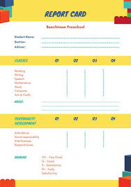 report card templates canva