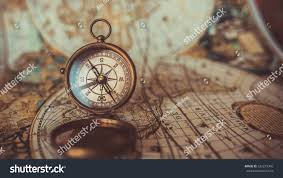 Old World Map Antique Compass Old World Map Vintage Stock Photo 532279345