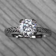 carved engagement rings lab grown diamond feather engagement ring 1 02ct kristin coffin