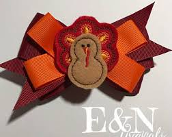 thanksgiving bows etsy