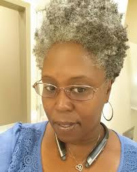 how to wear short natural gray hair for black women tapered natural grey hair white hair don t care pinterest