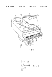 patent us5247129 stringless piano touch electric sound producer