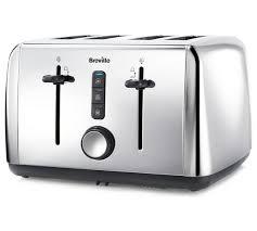 Breville 4 Slice Smart Toaster Buy Breville 4 Slice Toaster Stainless Steel At Argos Co Uk