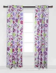 Curtain Panels Botanical Curtains Purple Curtain Panel Multicolor Curtains