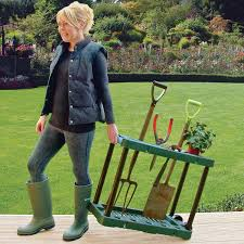 Gardening Tools Amazon by Garden Tool Holder With Wheels Amazon Co Uk Garden U0026 Outdoors