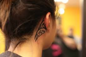 cover tattoo behind your ear polynesian tattoos behind the ear