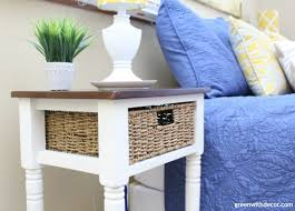 green with decor a two toned makeover white and wood nightstands