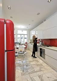 stylish italian red and white kitchen design in oslo art