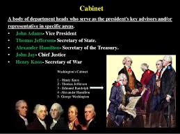 who was in washington s cabinet hogan s history the first presidents