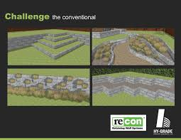 Recon Walls by Retaining Wall Systems Hy Grade Precast Concrete