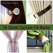 affordable curtain tie backs have terrific curtain tie back ideas