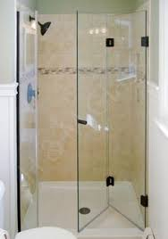Folding Shower Door Frameless Bifold Hinged Door Eliminates Any Frame And Fits Our