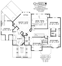 Media Room Floor Plans Castlebrook Manor House Plan House Plans By Garrell Associates Inc