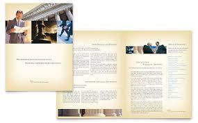attorney u0026 legal services brochure template design