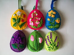 felt easter eggs felt easter eggs felt easter decoration easter embroidery