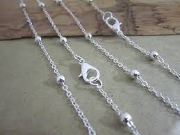 antique silver necklace chains images Beaded antique silver chain 16 inches spirit magic jpg