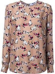 cat blouse msgm cat print blouse 491 buy aw16 fast global