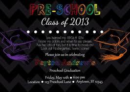 preschool graduation invitations themes free preschool graduation invitation cards with image