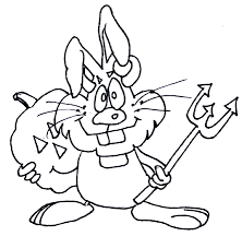 lovetheprimlook2 bunny devil happy halloween coloring pages