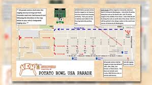 Rose Parade Route Map by Where Should You Park With The New Potato Bowl Parade Route
