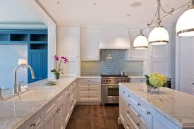 Light Blue Backsplash by Adel S Blue Sky Glass Tile Kitchen Amys Office