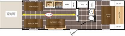 100 cougar trailer floor plans toy hauler travel trailer