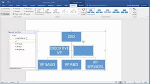 how to create an organization chart in word 2016 youtube